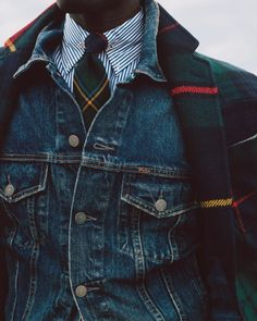 Amazing look for men Ralph Lauren Hombre, Polo Ralph Lauren, Denim Jacket Men Style, Plaid Jacket, Plaid Coat, Mode Bcbg, Ivy Style, La Mode Masculine, Casual Wear For Men