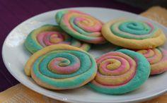 Rainbow Swirl Cookies - Bake.Eat.Repeat.