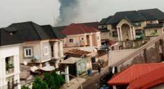 Confusion as explosion rocks Lagos - Herald Nigeria Confusion, Nigeria News, Rocks, Mansions, House Styles, Building, Outdoor Decor, Manor Houses, Villas
