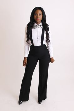 High waisted pants with suspenders                                                                                                                                                                                 More