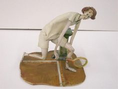 2293: Lo Scricciolo Pottery Tennis Player Figure : Lot 2293