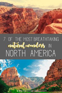 Breathtaking natural wonders in North America | north america travel | wildlife | north america national parks | north america bucket lists | road trips | travel north america destinations