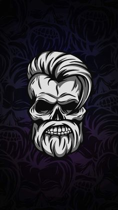 iPhone Wallpapers - Wallpapers for iPhone XS, iPhone XR and iPhone X Hd Skull Wallpapers, Skull Wallpaper Iphone, Cartoon Wallpaper Hd, Graffiti Wallpaper, Iphone Wallpapers, Arte Viking, Beard Logo, Barber Logo, Beard Art