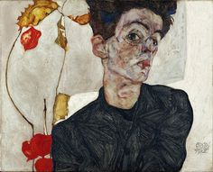 Egon Schiele, Autoritratto con Physalis, 1912