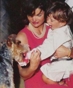 Jackie, John John and a dog.