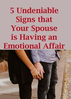 5 Undeniable Signs that Your Spouse is Having an Emotional Affair >>> An emotional affair can be tricky and harder to pinpoint than sexual affair. Emotional affairs usually start in friendship that is why it is confusing. Is it still friendship or it already crossed the line into an emotional affair? Although no sex involved yet, people in an emotional affair have deep emotional intimacy toward each other. #relationships #marriedlife #marriage #saveyourmarriage #infidelity