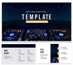 Ai robot technology powerpoint template robot technology and dj mixer player powerpoint templates toneelgroepblik Image collections