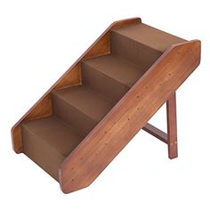 I just used this last weekend  Pawhut 4-Step Indoor Folding Wooden Pet Stairs follow this link click here http://bridgerguide.com/pawhut-4-step-indoor-folding-wooden-pet-stairs/ for much more detail about it. Thanks and please repin if you like it. :)