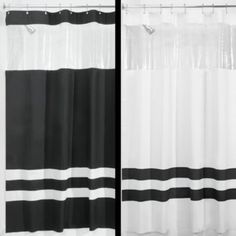 Interdesign® Hitchcock Rugby 72-Inch x 72-Inch Shower Curtain in Black and White - BedBathandBeyond.com