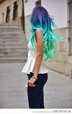 Amazing hair colour.