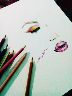 #makeup #sketch