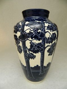 Pine Tree vase by Ken Tracy Pottery   kentracypottery.com