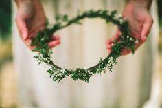 winter evergreen crown by emilyroseflowercrown