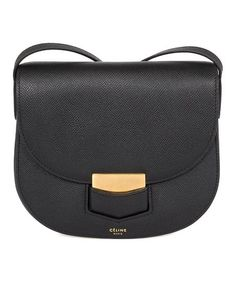 Céline Black Grained Calfskin Leather Crossbody Bag | zulily