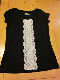 The Thinking Blonde: DIY: Lace Front T-shirt Tutorial