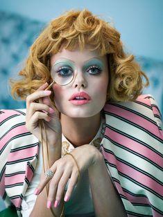 fromobscuretodemure: Frida Aasen by Sandrine Dulermo & Michael Labica for Stylist UK February 2015. Fashion editor: Hannah Teare Hair stylist: Ernesto Montenovo Makeup artist: Emma Miles Manicurist: Glenis Baptiste