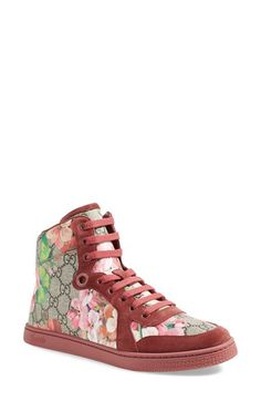 Gucci 'Coda - Bloom' High Top Sneaker available at #Nordstrom