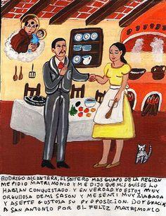 Родриго Алькантара, самый красивый жених в округе, сделал мне предложение. Он сказал, что его покорила моя стряпня. Я действительно горжусь своими кулинарными способностями, так что я с удовольствием согласилась выйти за Родриго. Благодарю Святого Антония за счастливый брак.
