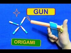 Easy Paper GUN - How to Make a Easy Paper Gun that Shoots Paper BULLETS