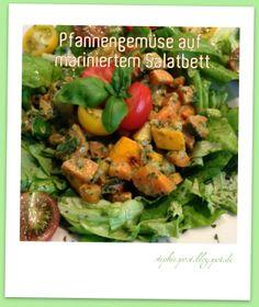 (Veganes) Pfannengemüse auf mariniertem Salatbett - raffiniert, schnell und zum Sattwerden: www.stephiespost.blogspot.de