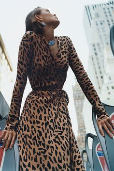 Love this cheetah print wrap dress