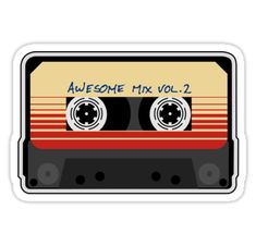 Awesome, Mixtape Vol 2, Cassette, Retro, • Also buy this artwork on stickers, apparel, phone cases, and more.