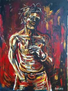 "Saatchi Art Artist Chris Delias; Painting, ""Johnny"" #art Chris D'elia, Saatchi Art, Art Drawings, Original Paintings, My Arts, Abstract, Canvas, Artist, Summary"