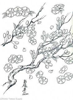 Filipino tattoos – Tattoos And Japanese Tattoo Designs, Japanese Sleeve Tattoos, Flower Tattoo Designs, Flower Tattoos, Cherry Blossom Pictures, Cherry Blossom Art, Easy Coloring Pages, Flower Coloring Pages, Filipino Tattoos