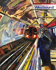 Original Popular culture Painting by Jenifer Dapper London Underground, City Painting, London Painting, Painting Art, Paintings, Painting Videos, Arte Steampunk, A Level Art Sketchbook, Art Alevel