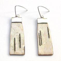 Medium birch bark earrings Logs by bettula on Etsy, $28.00