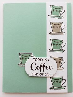 Virtual Card, Masculine Birthday Cards, Coffee Cards, Stampin Up Catalog, Card Tutorials, Card Maker, Funny Cards, Paper Cards, Stamping Up
