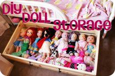 I Heart My Glue Gun: DIY Doll Storage