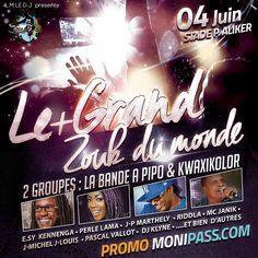 Le plus Grand Zouk Du Monde Vous aussi intégrez vos événements dans l'Agenda des Sorties de www.bellemartinique.com C'est GRATUIT !  #martinique #Antilles #domtom #outremer #concert #agenda #sortie #soiree