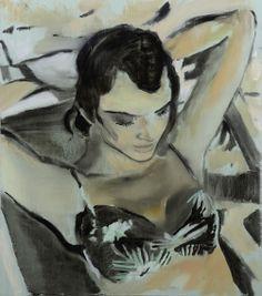 """KARI BRIT KJERSCHOW             06.02 - 02.03 """"Han ble stående og se på henne og tenke hvor rart det var at solen på øyelokkene ... Henna, Painting, Art, Craft Art, Painting Art, Kunst, Hennas, Paint, Draw"""