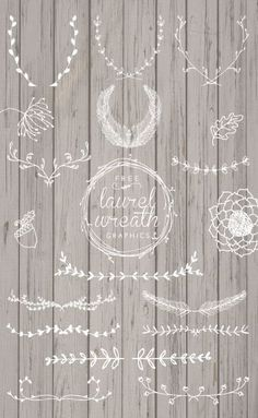 Upload these lovely hand drawn wreaths to create unique wedding invitations in PicMonkey.