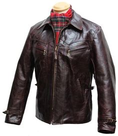 Wayfarer - A Late Half Belt on sale at Aero Leathers, Scotland, UK Motorcycle Leather, Biker Leather, Leather Men, Leather Jackets, 1930s Fashion, Mens Fashion, Riders Jacket, Long Jackets, Jacket Style