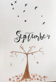 September plan, bullet journal September