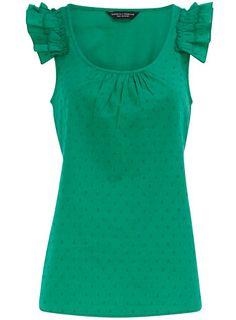 Dorothy Perkins green shell top