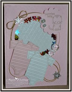 Stampin' Up! Ange's Treasures: Global Design Project #GDP003 Theme Challenge - Baby - Baby Shaker Card - Baby's First Framelits.