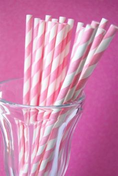 Pretty pink-and-white straws!