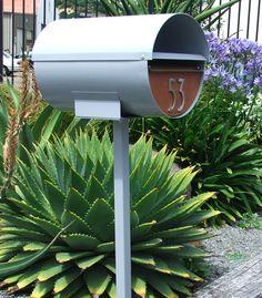 mid-century modern mailbox