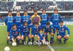 U de Chile formacion 1991 Chile, Fiat, Soccer, Predator, Ecuador, Grande, Venezuela, Sports, Lion Art