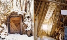 This is an off-grid lodge in Canaan, ME, USA based on the Sami Gamme [www.naturalhomes.org/fbr.gamme] of northern Norway. It was built by Chris Knapp, of Earthways School, who spent a year in Norway studying traditional skills. You can read about the inspiration for this building on Mother Earth News here: www.motherearthnews.com/Nature-Community/2004-02-01/Live-Without-Many-Possessions.aspx