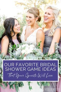Never slack on the party games! Bridal shower games are a fun way to get everyone mingled, laughing, and having a great time at your bridal shower. Check out this guide to our absolute favorite bridal shower games that'll get everyone laughing and having a great time. They're family-friendly and FUN for all generations! Bridal Shower Bingo, Bridal Bingo, Wedding Party Favors, Wedding Events, Wedding Advice, Wedding Planning, Newlyweds, Party Games, Mother Of The Bride