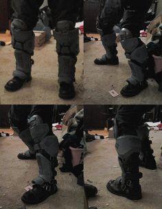 Halo: Reach - ODST shin armor by AlmightyNabeshin