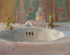 Christine Lafuente | Christine Lafuente, Sink Basin and Eggshells, oil on mounted linen, 11 ...