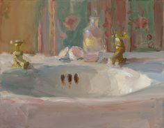 Christine Lafuente   Christine Lafuente, Sink Basin and Eggshells, oil on mounted linen, 11 ...
