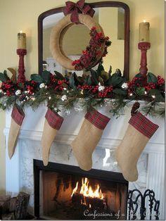 Mantel Ideas for Christmas on Pinterest | Christmas Mantels ...