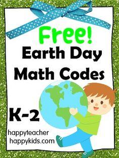 Earth Day Math Codes FREE
