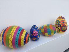 """Huevos de pascua """"Ostereier"""" de Papel Maché! Handmade by Ricky!"""